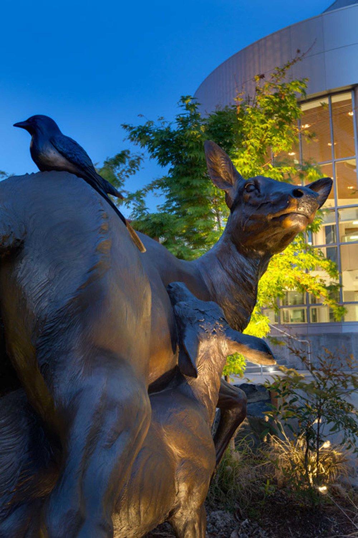 Kaiser Westside Hospital Bronze Sculpture Exterior Art