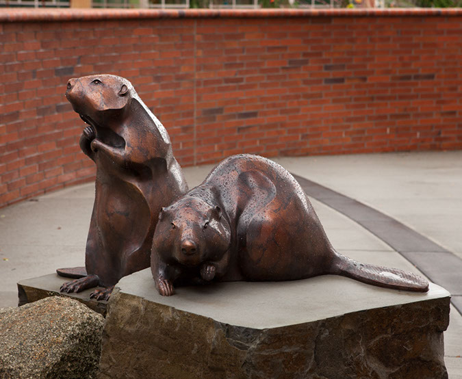 Rip Caswell Bronze Sculpture Kaiser Permanente Westside Medical