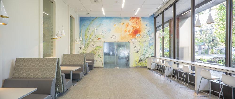 Studio Art Direct Cafe Restaurant Artwork Large Scale Watercolor Wallpaper