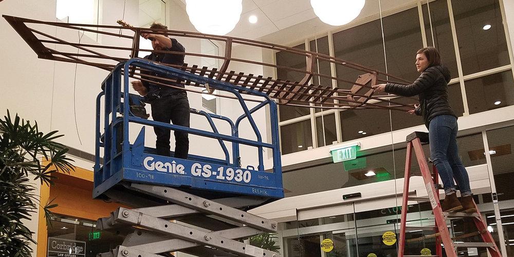 Studio Art Direct Wood Canoe Art Installation Installers Kaiser Tanasbourne