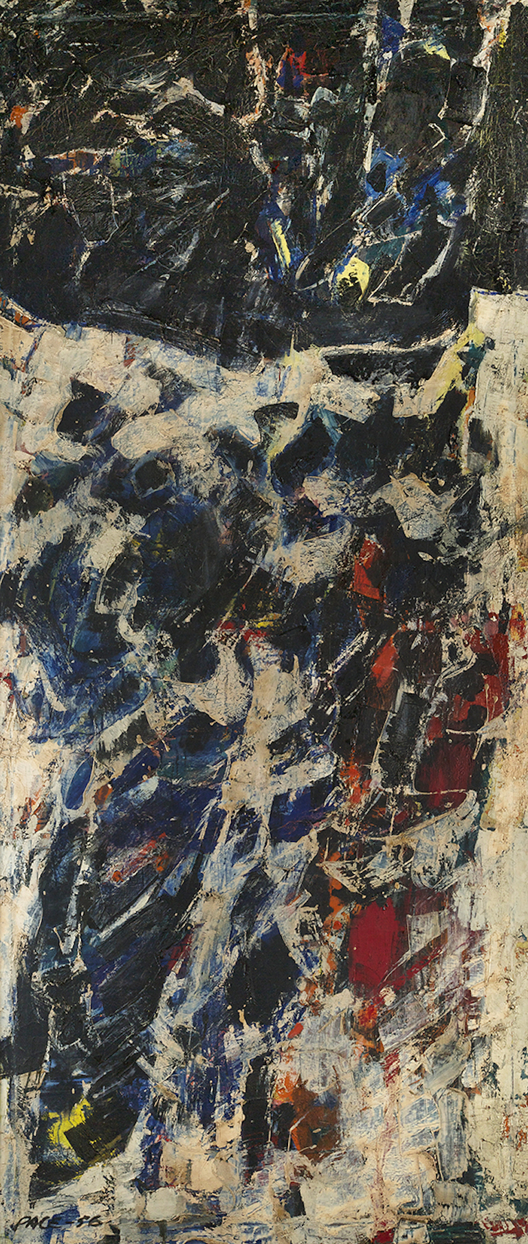 Untitled (56-14), 1956                                      Oil on Canvas 84 x 36 in.