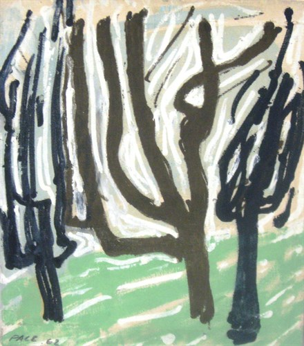 Untitled (62-4A), 1962 Oil on Canvas 24 x 21 x 1 in.