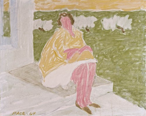 Woman in Yellow Jacket (64-P1), 1964 Oil on Canvas 24 x 30 in.