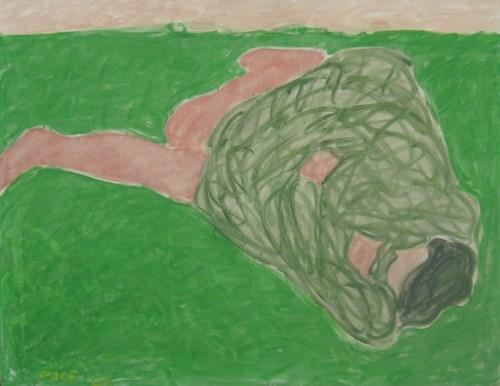 Sun Worshipper (63-12), 1963 Oil on Canvas 55 1/2 x 72 1/2 x 1 in.