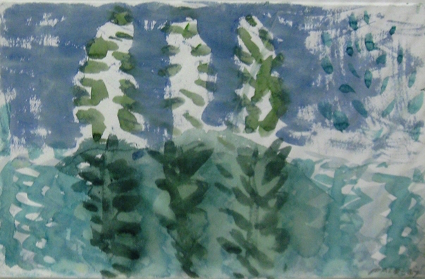 Untitled, 1967 Watercolor on Paper  15 1/2 in.