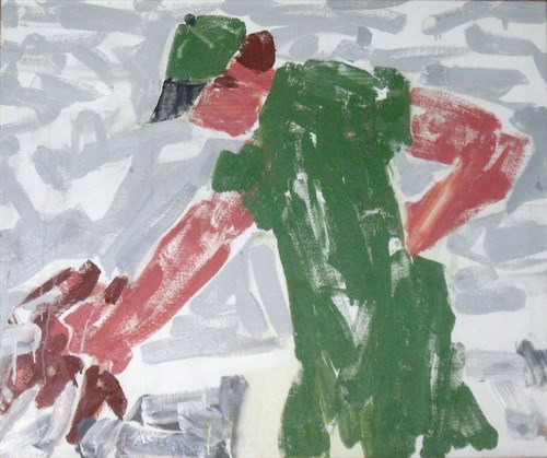 Selecting Lobster (98-5), 1998 oil on canvas  30 3/4 x 36 1/2 x 1 1/2 in.