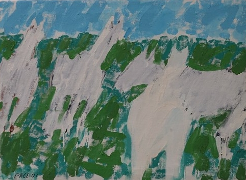 Four White Horses (01-9), 2001 Oil on Canvas 22 x 30 in.