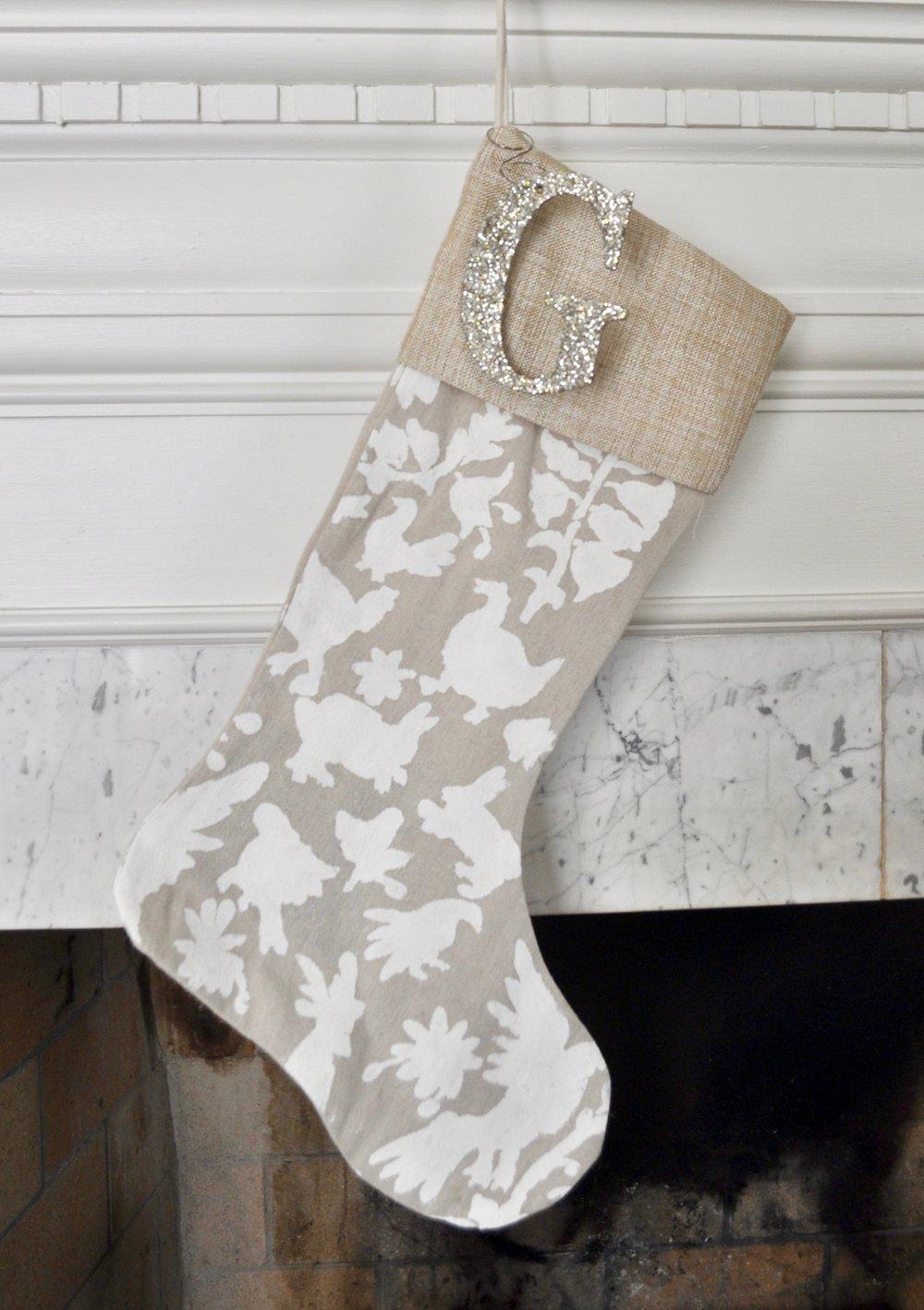 Gray Christmas Stockings.Otomi Christmas Stockings Bees And Bubbles