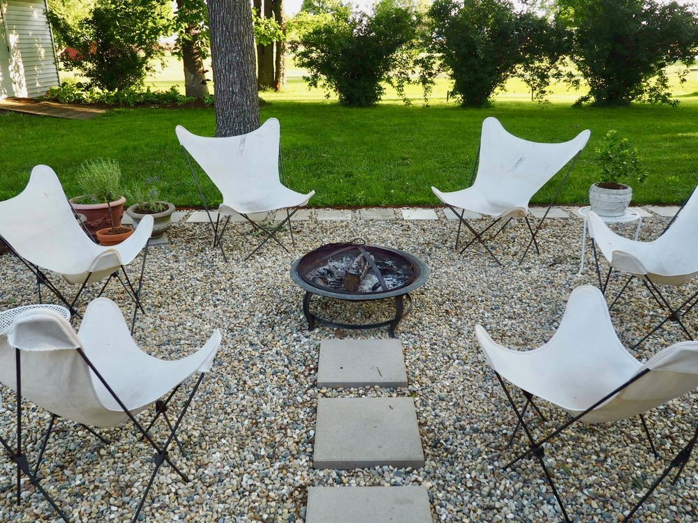 Pea Gravel Patio Project — bees and bubbles