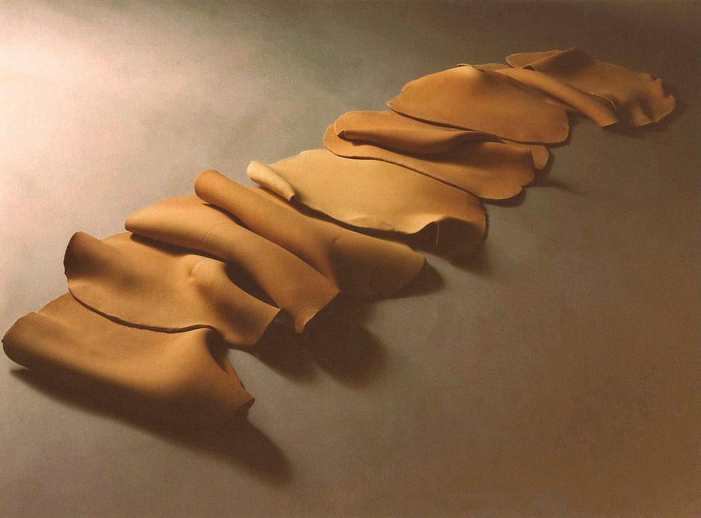 "Dunescape, 5'x1.5'x6"", Clay, 1980"