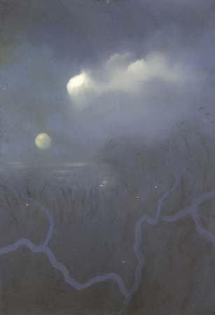 Moonglaze , pastel on paper, 29x41 inches, 2005