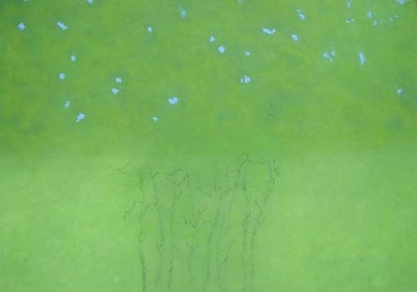 Pas De Deux , pastel on paper, 39x27 inches, 2005