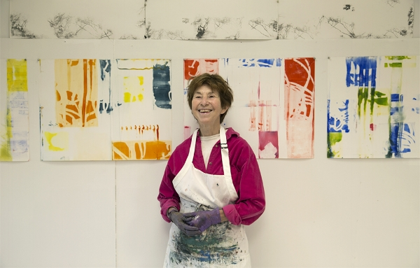 Vivian Bower  in her studio