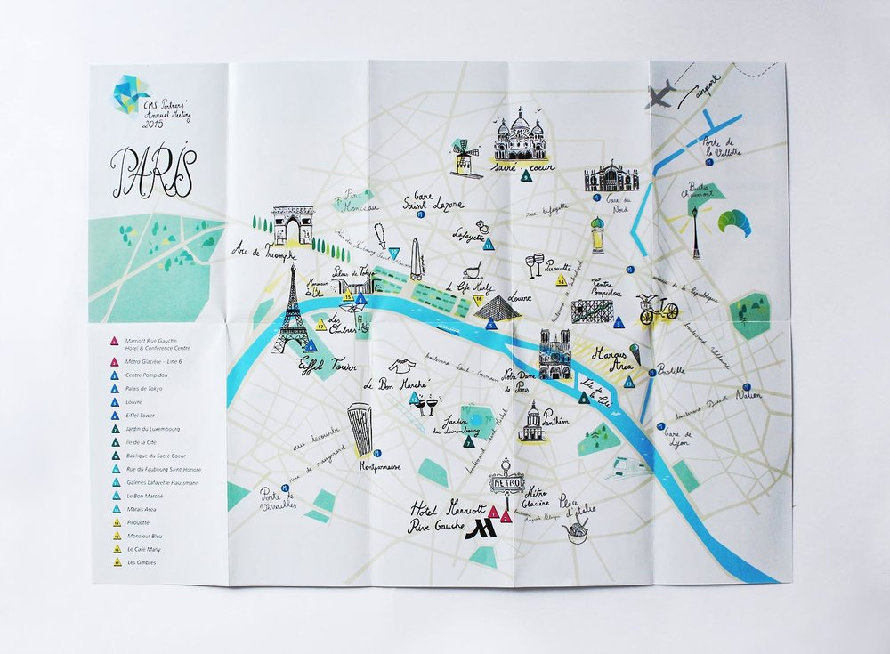 PARIS MAP NORDISK BÜRO