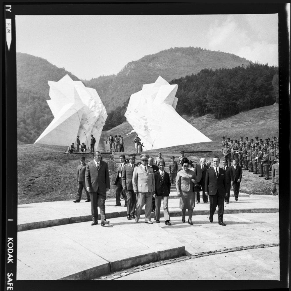 Tito vid invigningen av monumentet Sutjeska iTjentište, Bosnien. 5 september 1971. Foto: Museet över Jugoslaviens historia.