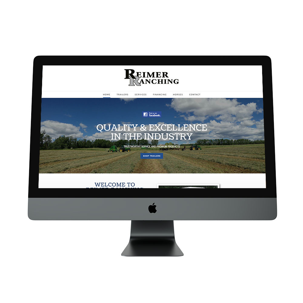 Reimer Ranching Supplies - Site RedesignBrand Styling to match existing logo