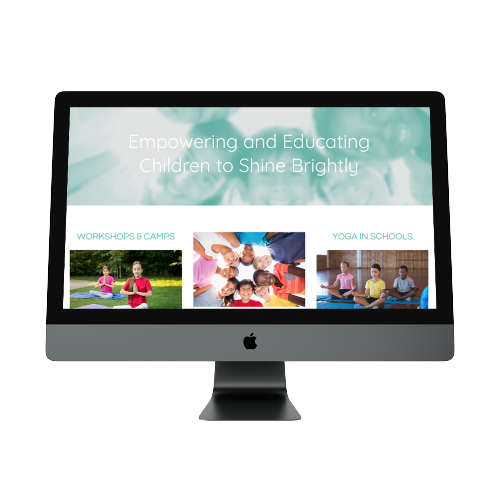 Joelene Abbott Yoga - Website RedesignBrand Styling to match existing logo