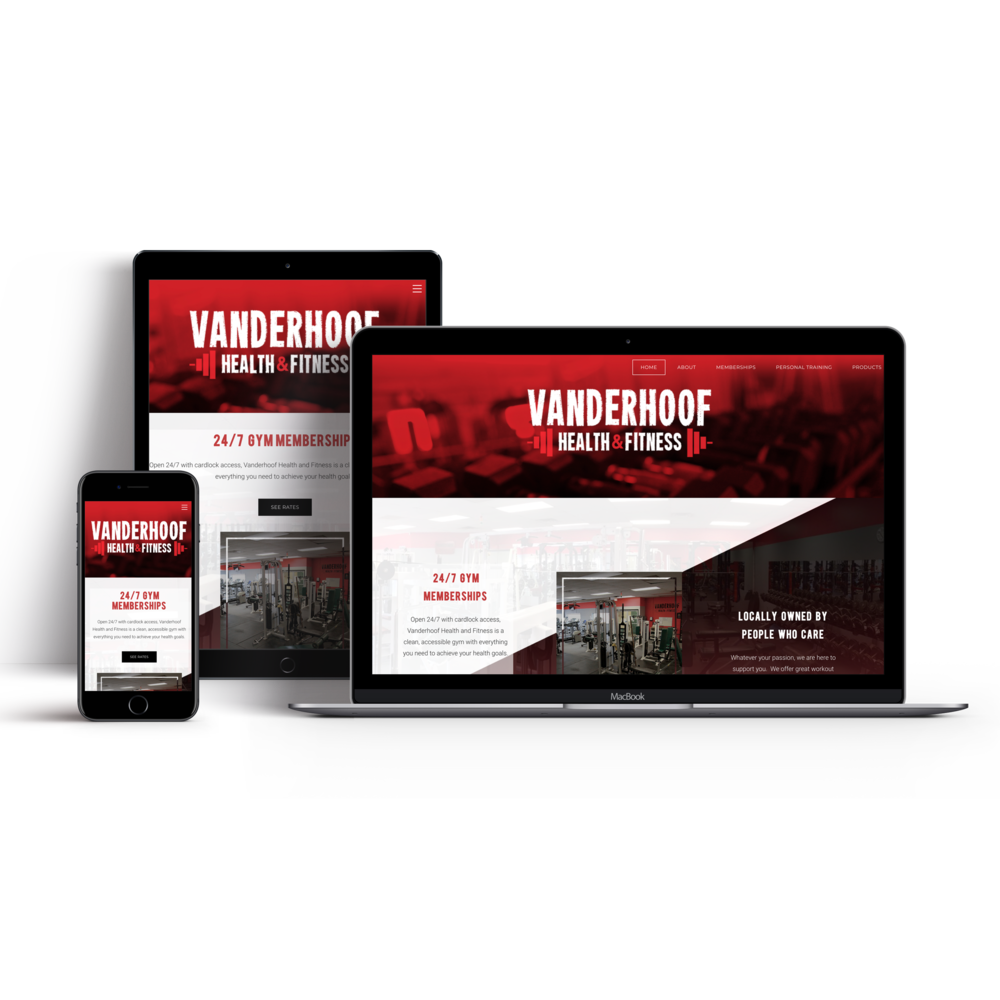 Vanderhoof Health and Fitness - Site DesignBrand Styling to match existing logo