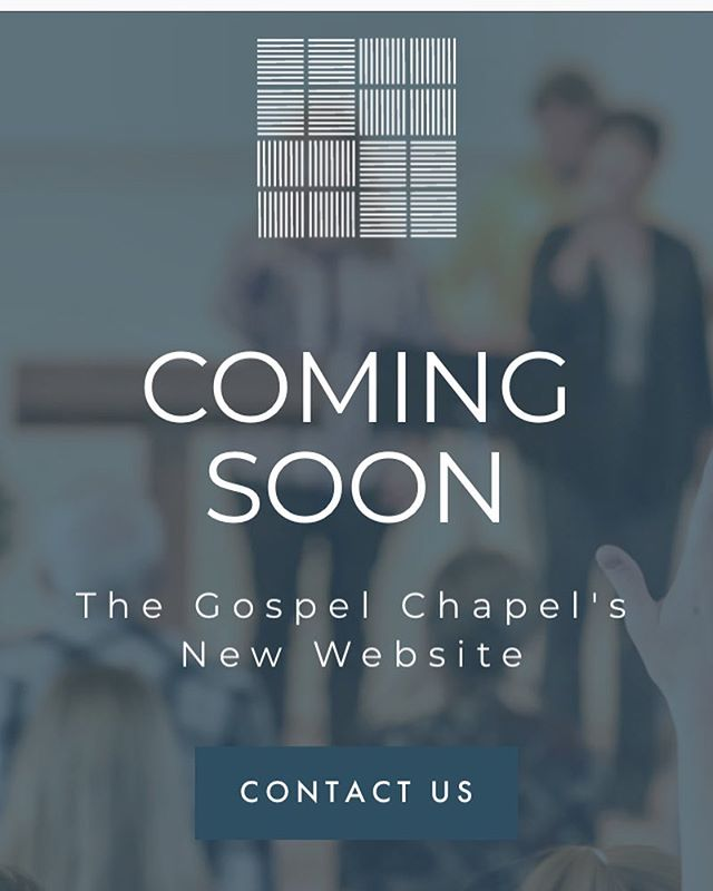 Feels so good to almost launch this new brand and website!  So excited for The Gospel Chapel to reveal it all! 🎉