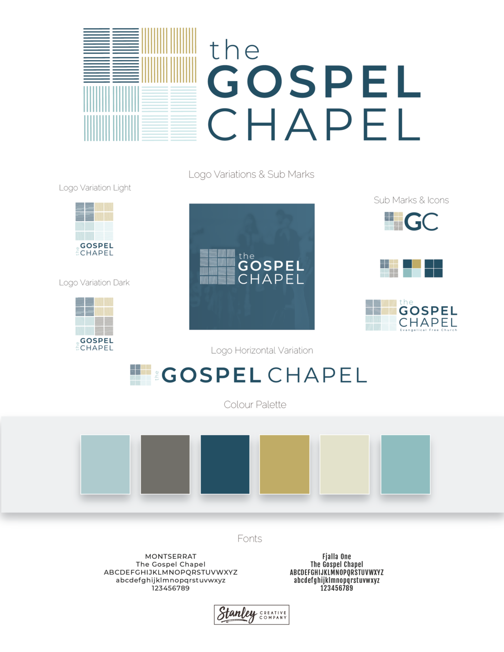 Brand Board for The Gospel Chapel by Stanley Creative Company