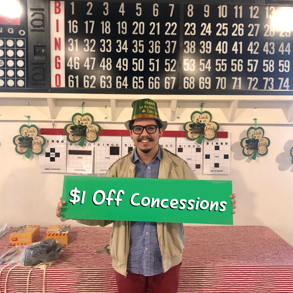 Green Lake Renewal's Jorge Gutierrez shows off his green hat for Pot O' Gold Bingo!