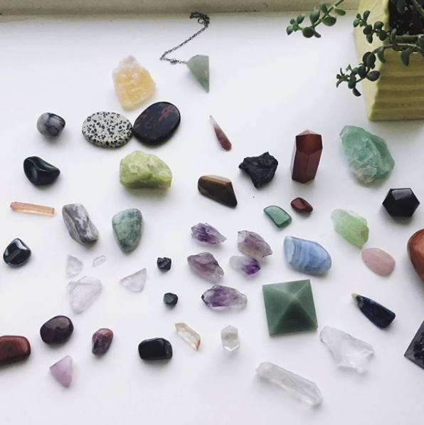 A lovely shot of Amy's Crystals, borrowed from her instagram @amykuretsky