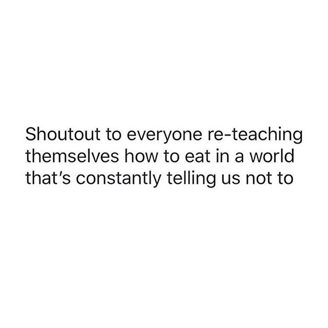 FOR REALS. You all are strong af. Keep going. • Speaking of living in a world that teaches us not to eat- fresh pod episode is live and ready for the taking! This week we're talking about Keto dieting 🤦🏼‍♀️ • Link in bio 🎧 • Repost from @becomingbodypositive • • #eatingdisorderrecovery #edrecovery #antidiet #nondiet #haes #healthateverysize #ketodiet #orthorexia #bopo #bodyacceptance #everybodyisbeatiful #effyourbeautystandards #losehatenotweight