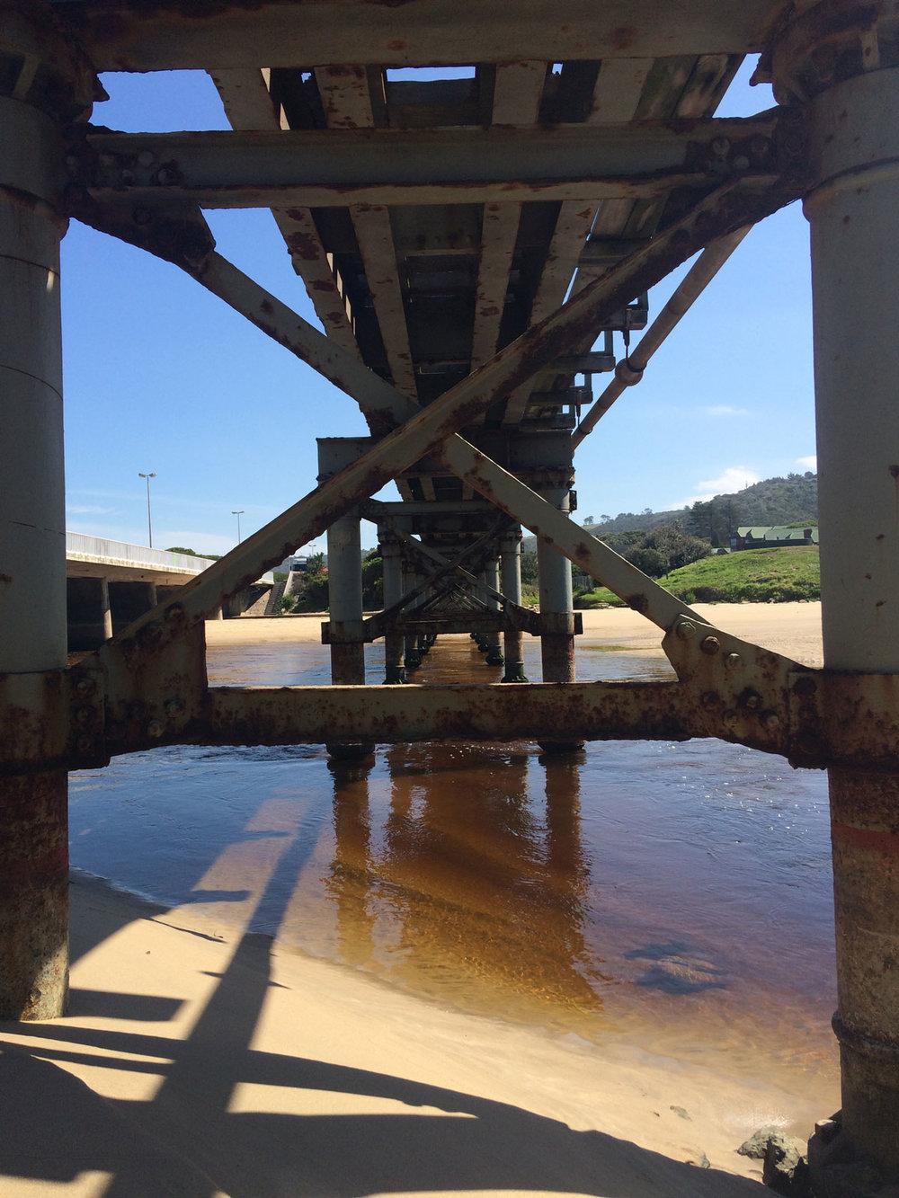 Train bridge at Touws River estuary
