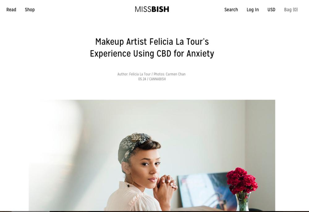 www.missbish.com  Felicia La Tour's Experience using CBD