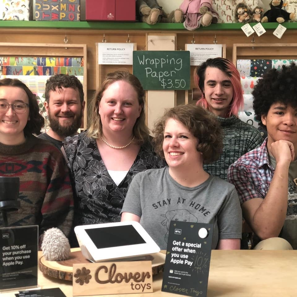 Clover Commerce - Clover point-of-sale payment systems stopped by to meet the Clover Toys team. What a lucky match made in heaven!