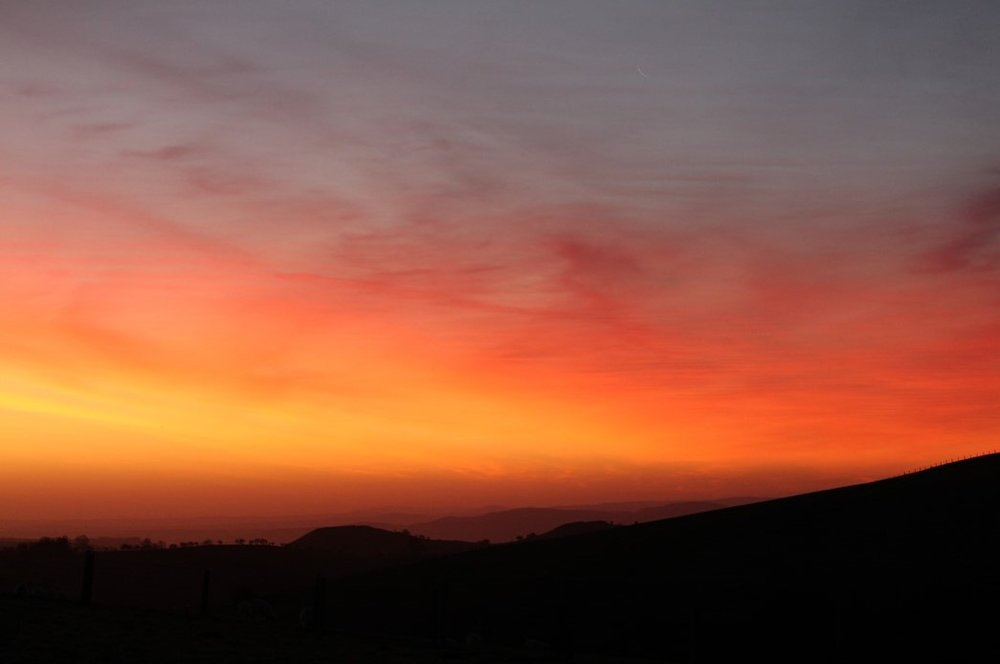 Sunrise near Pystill Rhaedr