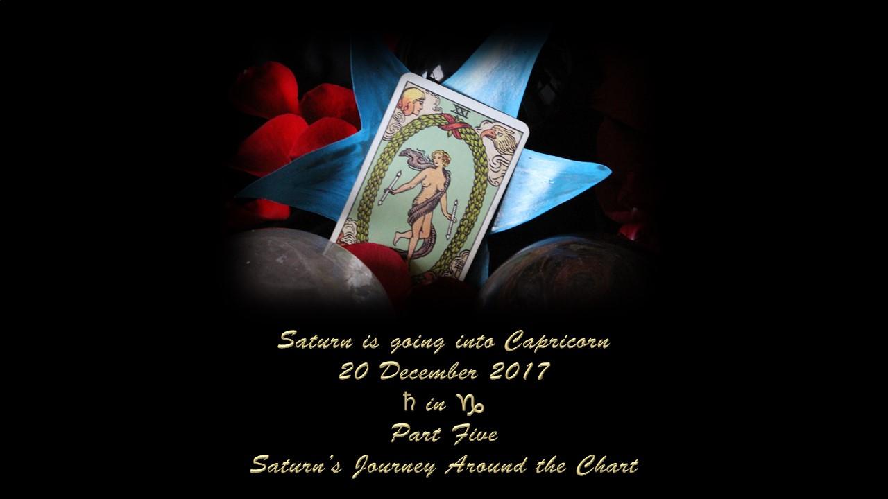 Saturn in Capricorn, Part Five: Saturn's Journey around the Chart
