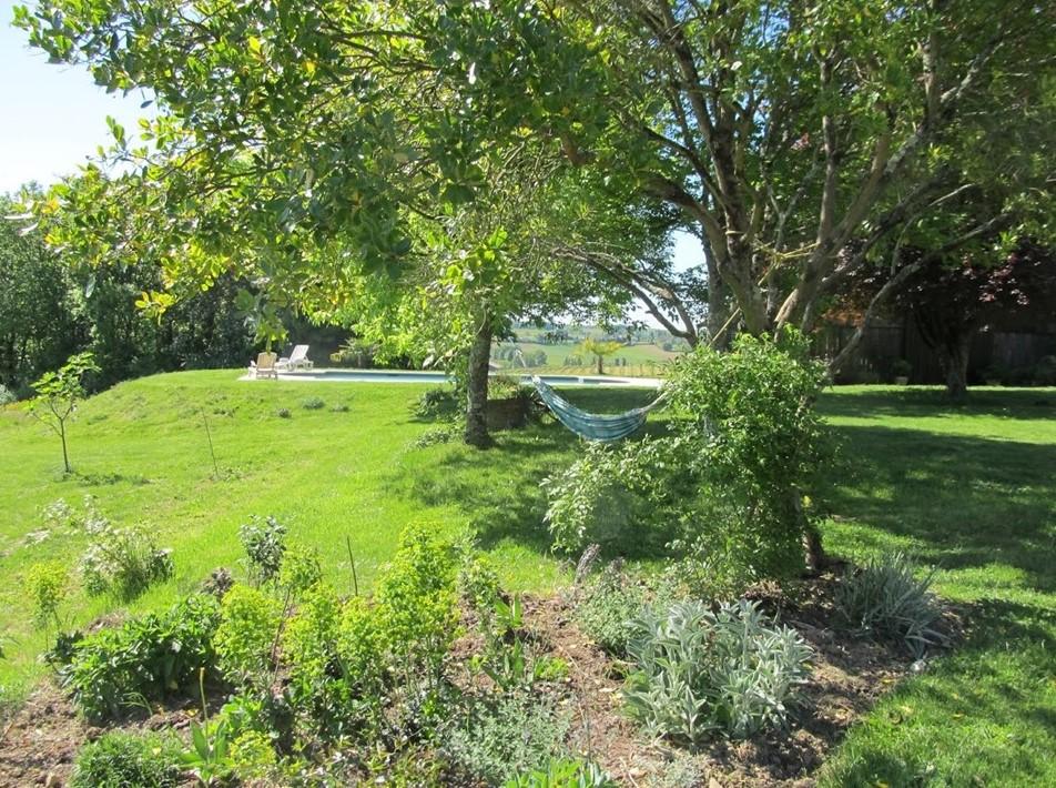 The garden at Sol Henge Retreat