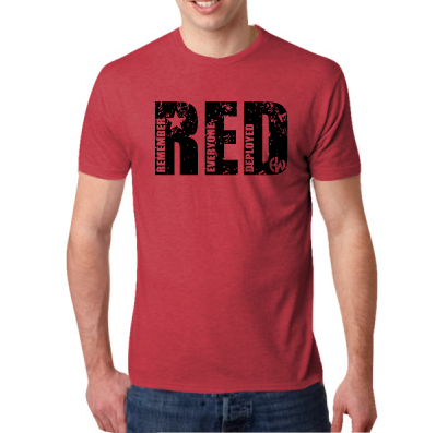 - RED EW - Next Level Men's Tri-Blend Crew $25.00