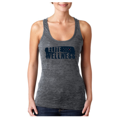 - Elite Wellness - Next Level The Burnout Racerback Tank $27.50