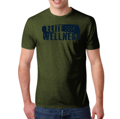 - Elite Wellness - Next Level Men's Tri-Blend Crew $25.00