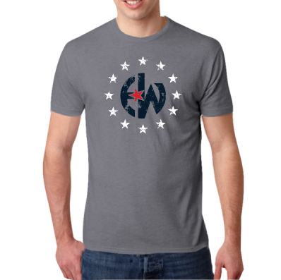 - EW Stars - Next Level Men's Tri-Blend Crew $25.00