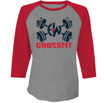 - EW CrossFit - Next Level Unisex Tri-Blend 3/4-Sleeve Raglan $30.00