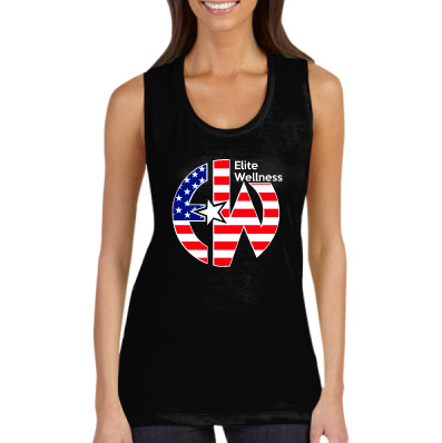 - EW American Flag - CANVAS Ladies' Flowy Scoop Muscle Tank $31.00