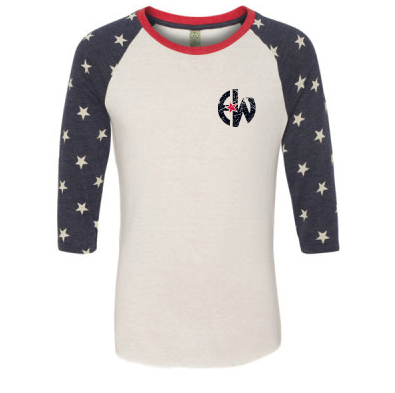 - EW - Printed Eco-Jersey Baseball T-Shirt $32.00