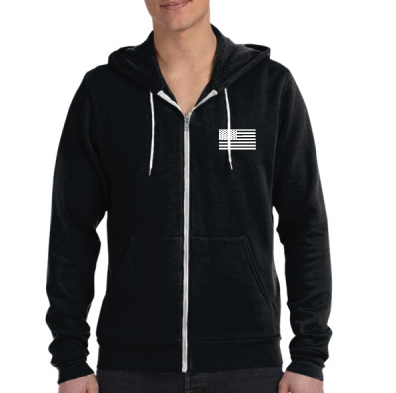 - EW Star Hoodie - Bella Canvas Unisex Poly-Cotton Fleece Full-Zip Hoodie $40.00