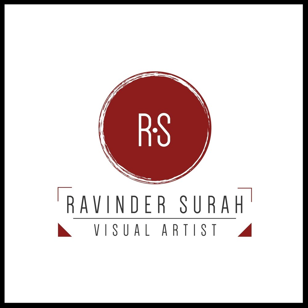 RAVINDER SURAH VISUAL ARTIST LOGO