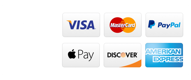 We offer a range of payment types and all your payments are made over a secure server.