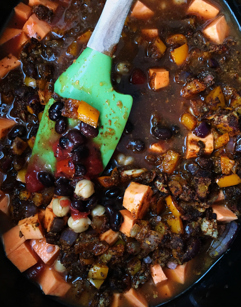 4. Mix the chili well once slow cooker is done and serve..