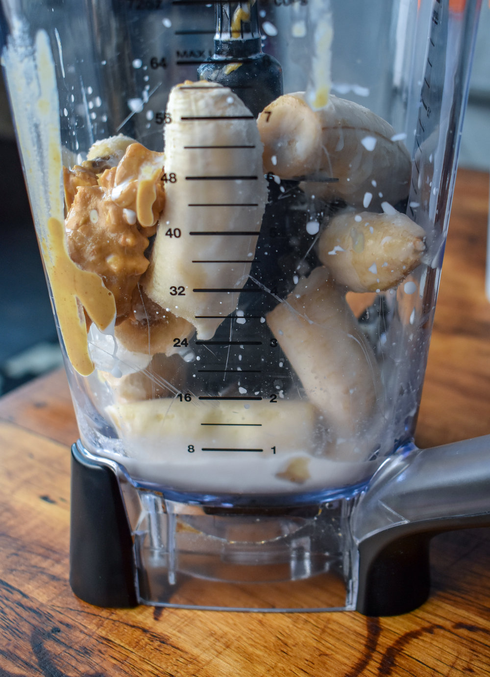 1. In a high speed blender, blend all the ice cream ingredients until smooth.