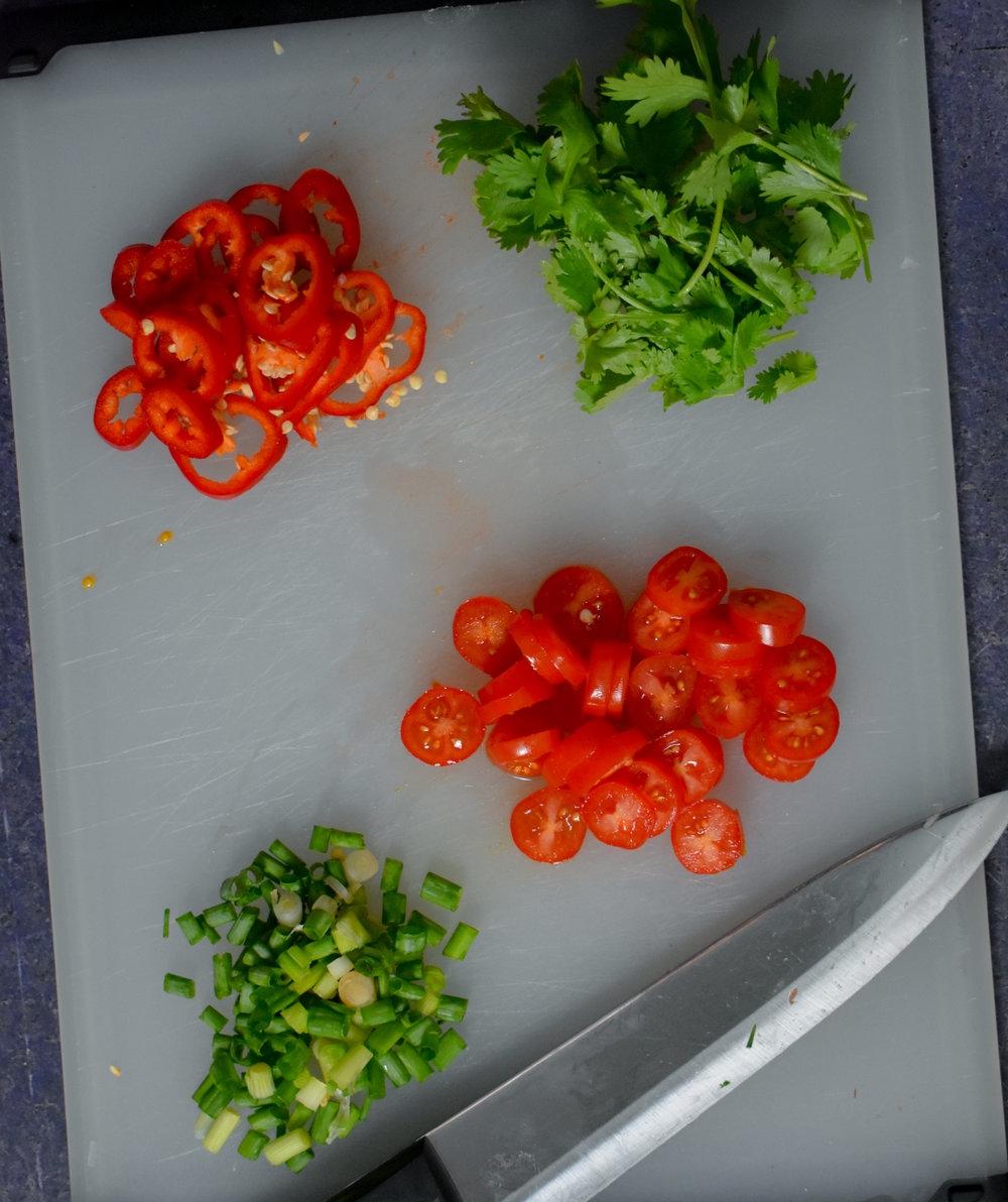 3. Chop up your fresh ingredients!
