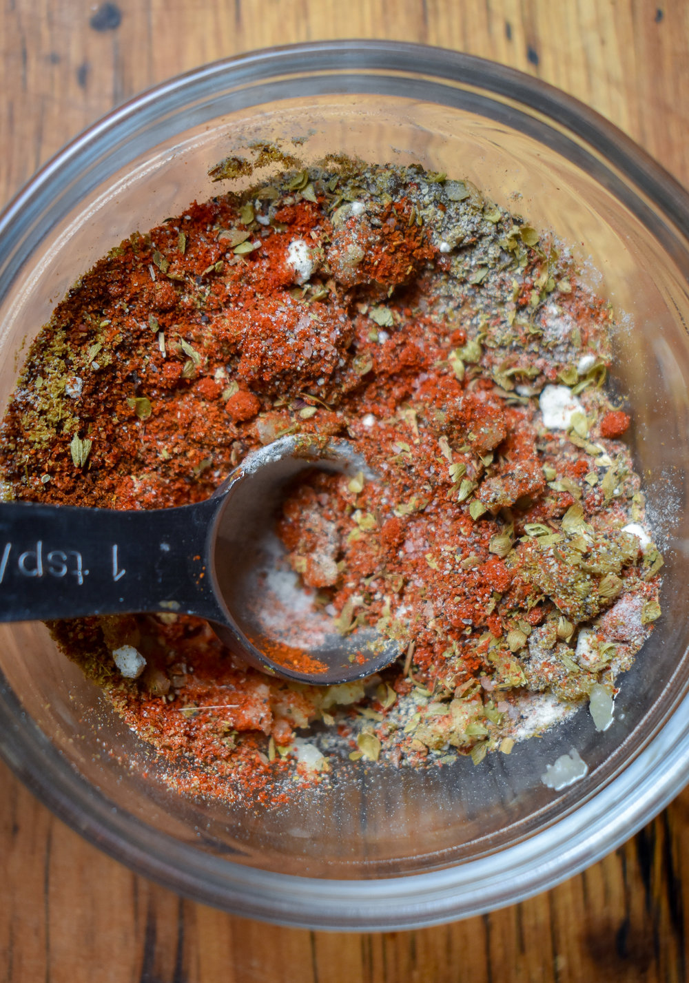 2. While the rice cooks, stir together your cajun spice blend in a small bowl.