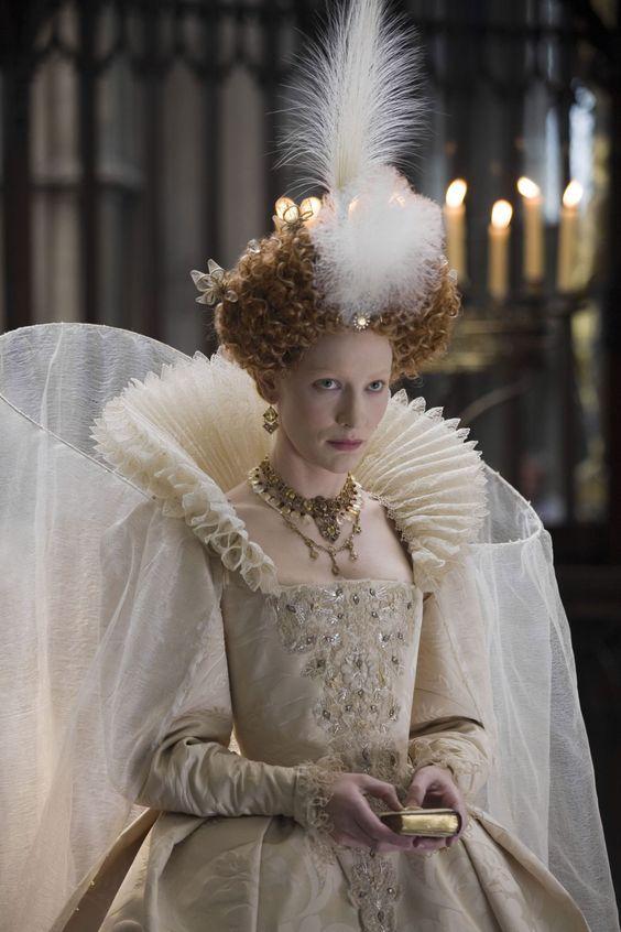 Cate Blanchette:Queen Elizabeth I, in the film Elizabeth: The Golden Age.