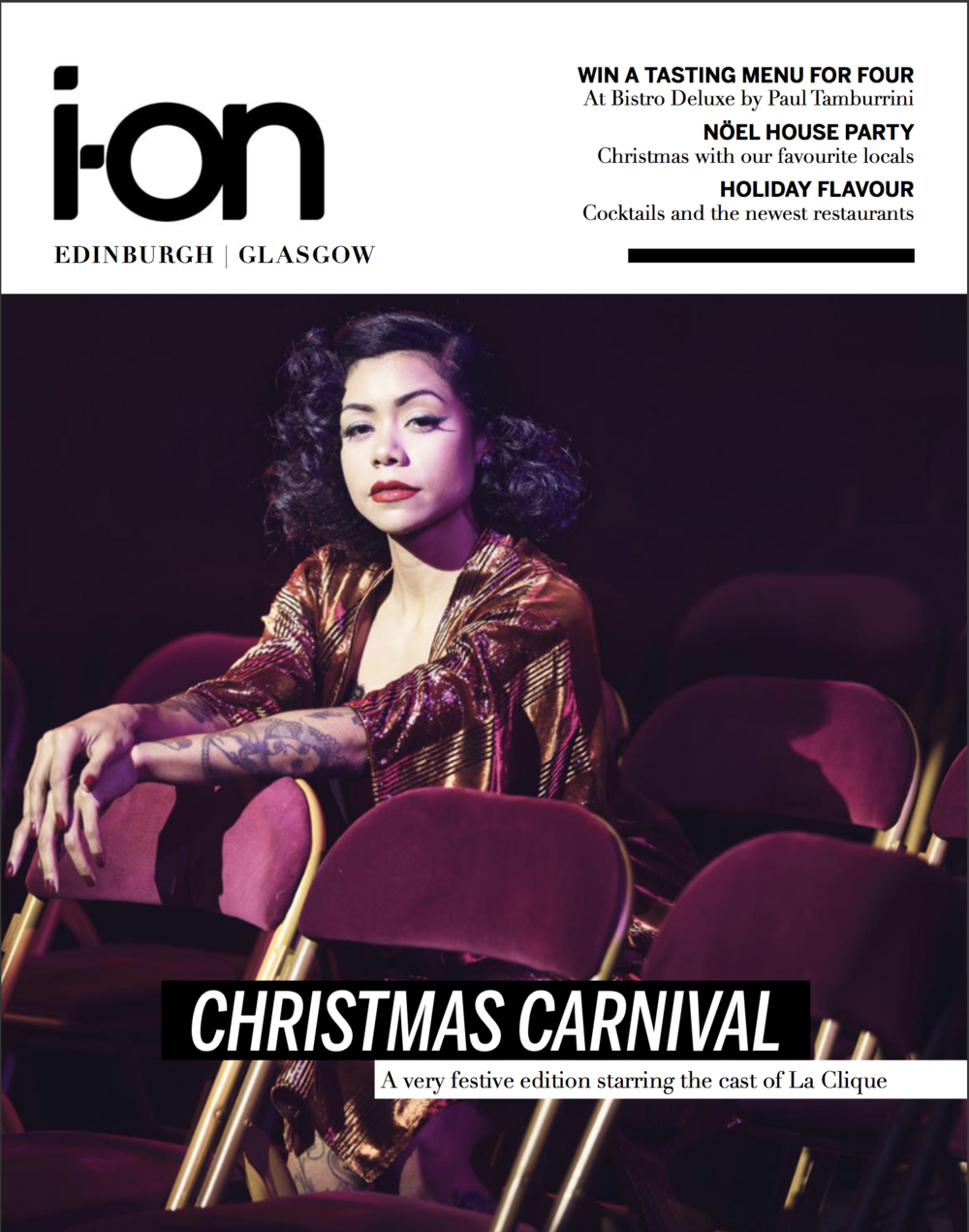 I-on magazine cover December 2017 Heather Holiday la clique.png