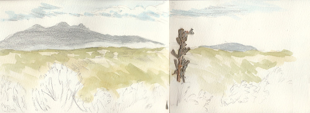 Near Taos, NM, Watercolor